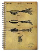 1952 Fish Lure Patent Spiral Notebook