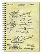 1952 Helicopter Patent Spiral Notebook