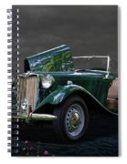1952 Mg Td Roadster Spiral Notebook