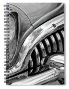 1953 Buick Chrome Bw Spiral Notebook