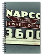 1953 Chevrolet 3600 4 X 4 Emblem Spiral Notebook