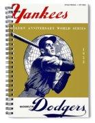 1953 Yankees Dodgers World Series Program Spiral Notebook