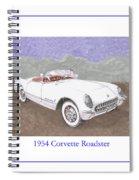 1954 Corvette Roadster Spiral Notebook