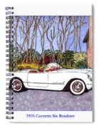 1955 Corvette Six Roadster Spiral Notebook
