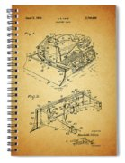 1956 Bulldozer Patent Spiral Notebook
