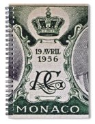 1956 Princess Grace Of Monaco Stamp II Spiral Notebook