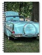 1957 Bel Air  Blue Convertible  Spiral Notebook