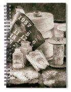 1957 Calendar Bw Spiral Notebook