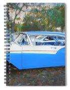 1957 Ford 2 Door Fairlane C130 Spiral Notebook