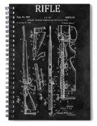 1957 Rifle Patent Illustration Spiral Notebook