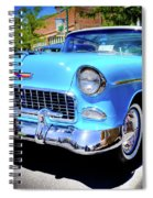 1955 Chevy Baby Blue Spiral Notebook