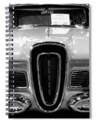 1958 Edsel Pacer Black And White Spiral Notebook