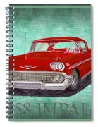 1958 Impala By Chevrolet Spiral Notebook