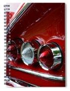 1958 Impala Tail Lights Spiral Notebook