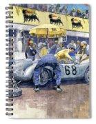 1958 Targa Florio Porsche 718 Rsk Behra Scarlatti 2 Place Spiral Notebook