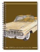 1959 Chevrolet Impala Convertible Spiral Notebook