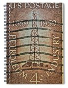 1959 First Oil Well Stamp Spiral Notebook
