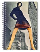 1960 70 Fashion Shot Of Female Model In Usa Spiral Notebook