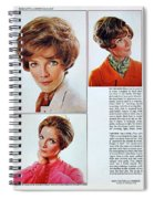 1960 70 Stylish Female Hair Styles Brown Mature Lady Spiral Notebook
