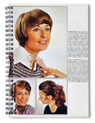 1960 70 Stylish Female Hair Styles Brown Spiral Notebook