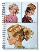 1960 70 Stylish Female Hair Styles Golden Blond Spiral Notebook