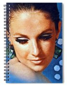 1960 70 Stylish Lady In Blue Spiral Notebook