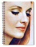 1960 70 Stylish Lady In Red Spiral Notebook
