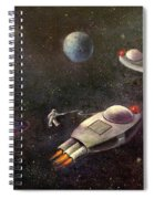 1960s Outer Space Adventure Spiral Notebook