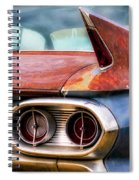 1961 Cadillac Tail Light And Fin Spiral Notebook
