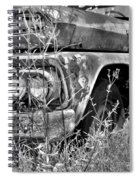 1961 Chevrolet Apache 10 Black And White 4 Spiral Notebook