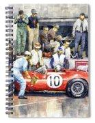 1961 Le Mans 1961 Ferrari 250 Tri Olivier Gendebien Phil Hill Winner  Spiral Notebook