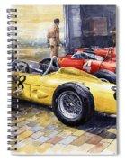 1961 Spa-francorchamps Ferrari Garage Ferrari 156 Sharknose  Spiral Notebook