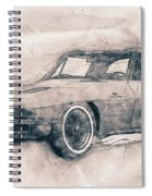 1963 Chevrolet Corvette Sting Ray - 1963 - Automotive Art - Car Posters Spiral Notebook