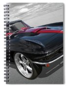 1963 Corvette Stingray Split Window In Black And Red Spiral Notebook