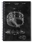 1963 Snare Drum Patent Spiral Notebook