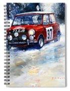 1964 Rallye Monte Carlo Mini Cooper S Hopkirk Liddon Winner Spiral Notebook