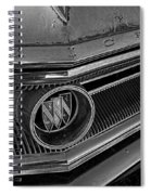 1965 Buick Hood Ornament B And W Spiral Notebook