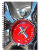1965 Classic Ford Mustang Rim Color Spiral Notebook