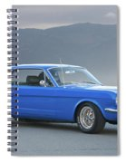 1965 Ford Mustang 'blue Coupe' I Spiral Notebook