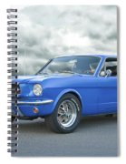 1965 Ford Mustang 'blue Coupe' IIa Spiral Notebook