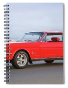 1965 Ford Mustang 'red Coupe' I Spiral Notebook