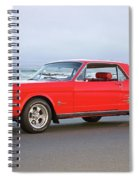 1965 Ford Mustang 'red Coupe' II Spiral Notebook