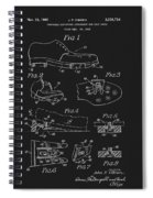 1965 Golf Shoes Patent Spiral Notebook