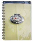 1965 Yellow Sting Ray Gas Cap Spiral Notebook