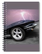 1966 Corvette Stingray With Lightning Spiral Notebook
