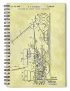 1966 Riding Mower Patent Spiral Notebook