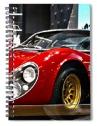 1967  33 Straddle Alpha Romeo Spiral Notebook
