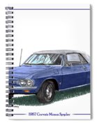 1967 Corvair Monza Spyder Spiral Notebook