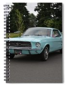 1967 Ford Mustang Watts Spiral Notebook