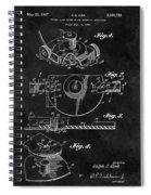 1967 Lawn Mower Patent Illustration Spiral Notebook